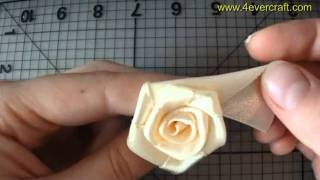 ������-����� �� �������� ���� �� ����� (handmade ribbon rose) ����� ���� �� �������� ���� ��� ������� ����� �� ������ �� �������� ���� ������-����