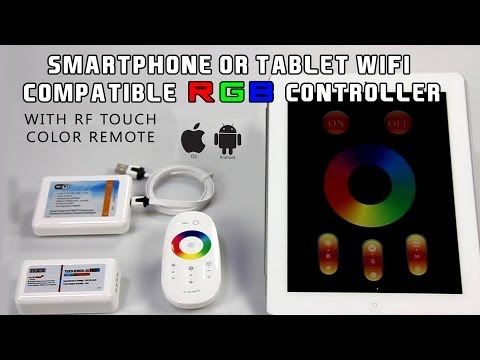 Smartphone or Tablet WiFi Compatible RGB Controller w/ RF Touch Color Remote rgb контролер