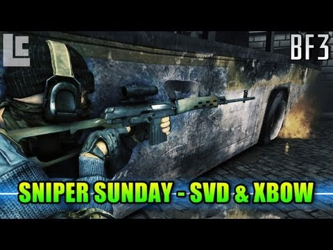Sniper Sunday - SVD & XBOW Tactics (Battlefield 3 Gameplay/Commentary) йутуб видео